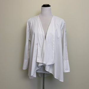 Kim Rogers White Cotton Cardigan Size L